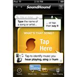 Soundhound start screen