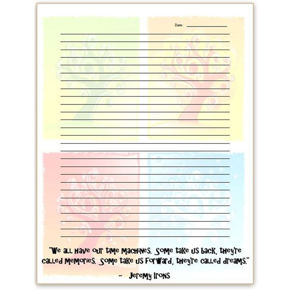 Inspirational Quote Journal Page  Lined Paper Background For Word