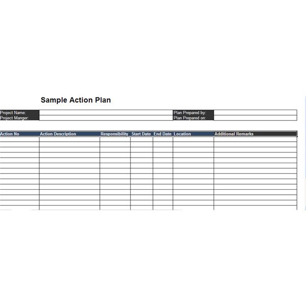 Top  Free Sample Action Plans