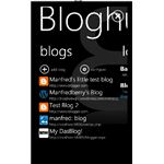 Windows Phone 7 Blogging apps