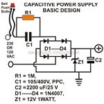 Transformerless Power Supply, for Door Bell Application Image