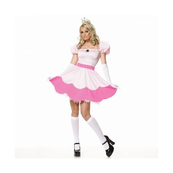 Nintendo character costume ideas for halloween make your own princess peach costume solutioingenieria Gallery