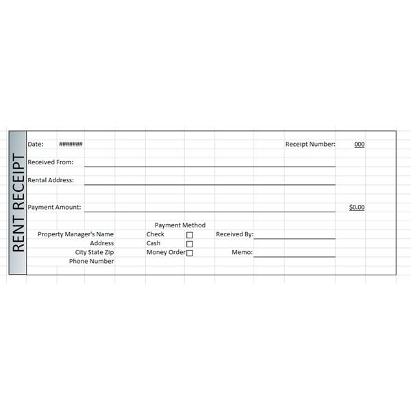 Rent Receipt Template Excel – Free Rent Receipt Template