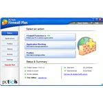 User Interface of PC Tools Firewall Plus 7