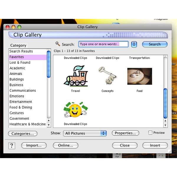 How to Add Clip Art to Microsoft Office 2008 for Mac OS: A Short ...