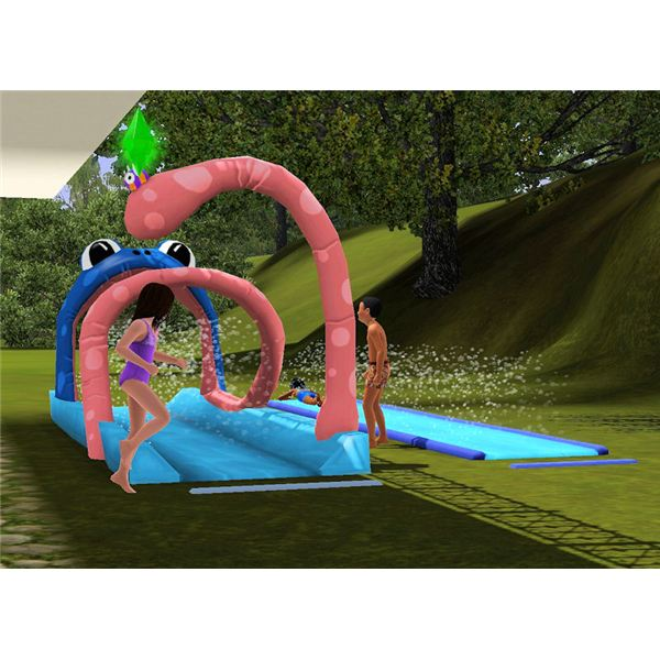 Huge Backyard Water Slide : Have Fun Outside with The Sims 3 Water Slides