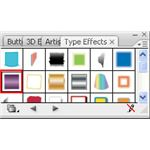 Adobe Illustrator CS3 Buttons - Oink and silver bullet button - type effects box