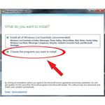 Install Windows Live Writer: Choose programs
