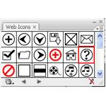 Adobe Illustrator CS3 icons - metal help icon - web icon