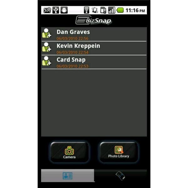 Top four android business card readers for Business card app for android