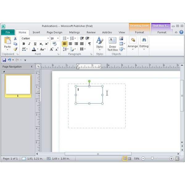 Set Default Font for Publisher 2010