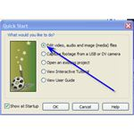 Video Edit Magic Quick Start Dialog Box