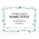 World's Best...Certificate