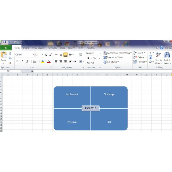 How To Create A Pick Chart In Excel For Prioritizing Projects