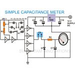 Simple Capacitance Meter, Circuit Diagram, Image