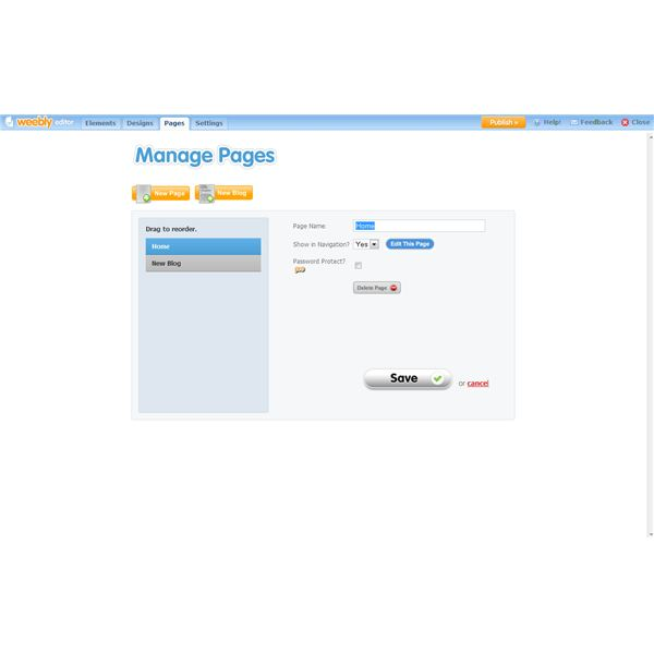 how to remove create free website in weebly
