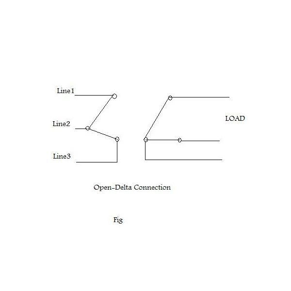 Open Delta Transformer Connection http://www.brighthubengineering.com/power-generation-distribution/112567-three-phase-with-two-transformers-the-open-delta-connection/