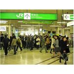 Busy Tokyo railway station