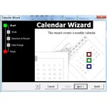 Word Calendar Wizard Opening Screen