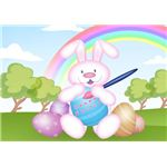 Easter Bunny & Rainbow Wallpaper