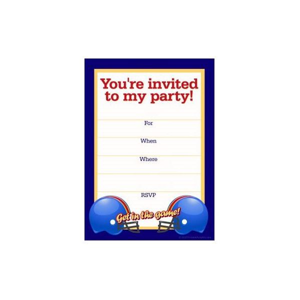 Free Football Party Templates to Download from Online Sources – Pages Invitation Templates Free