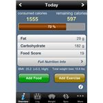 Tap & Track Calorie Tracker iPhone App