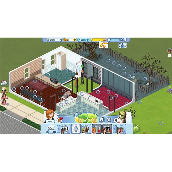Social games that let players create Create your house game