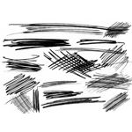 Scribble Brushes by necrosensual art