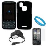 Black Protective Rubberized Crystal Hard Case