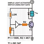 Light Activated Switch Using a NOT Gate, Image