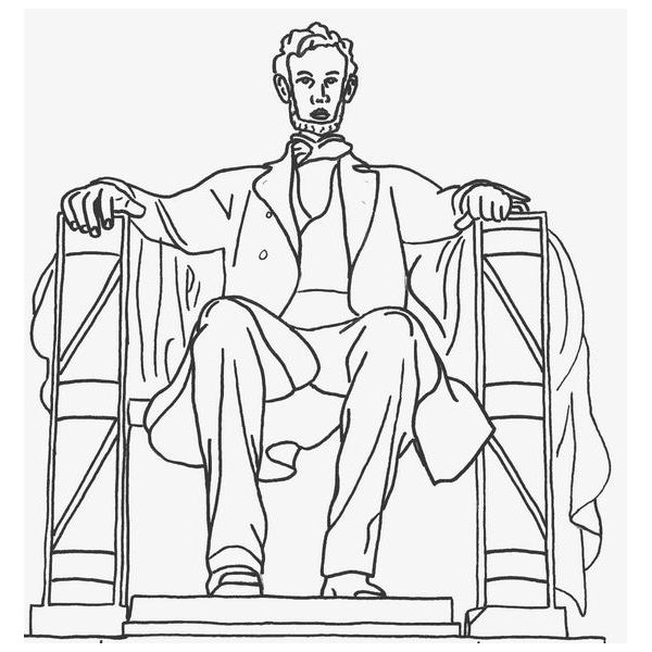 abe lincoln coloring sheets sitting in chair