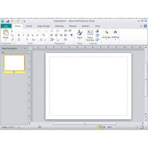 how to start microsoft publisher 2010