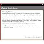 Installation includes option to install McAfee Site Advisor