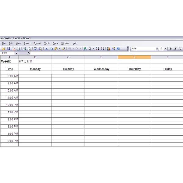These Programs Both Work Similarly By Providing You A Spreadsheet Format To Create Custom Time Management Worksheets