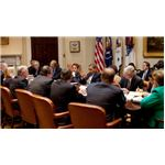Barack Obama meets with credit card industry representatives