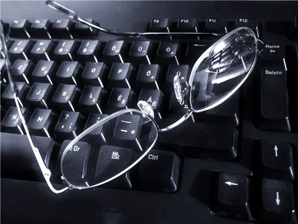 Glasses on Keyboard