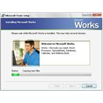 Installing Microsoft Works