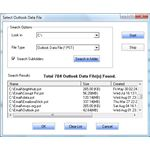 Figure 8: Completed Search for Outlook Data Files