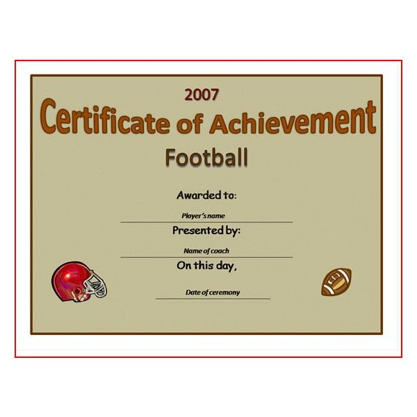 Sports award template printable sports certificate template for word fppt yadclub Gallery