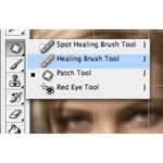 Selecting the Healing Brush tool