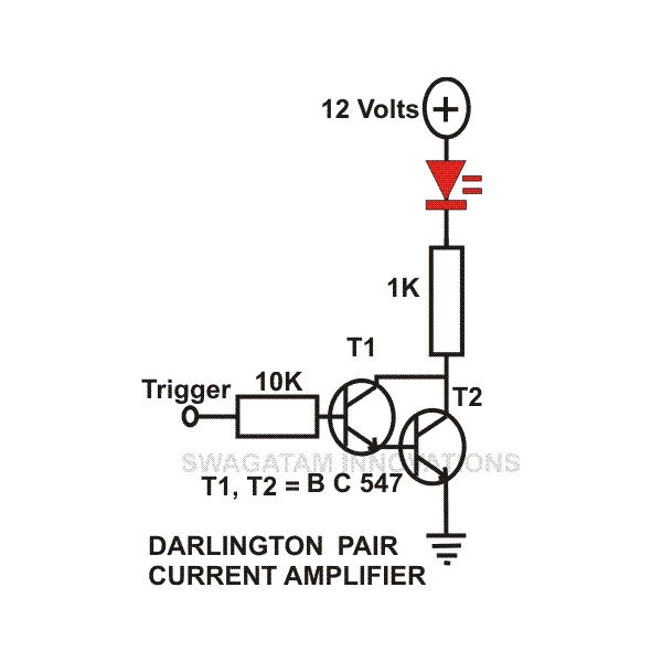 transistor circuits configuration  current amplifier