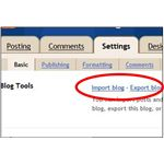 Blogger Import Blog - Export