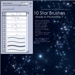 Star Brushes by kuschelirmel stock
