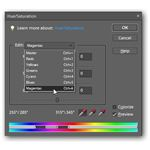 Select Magentas in the Hue/Saturation Dialog Box