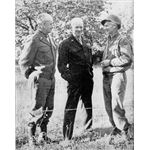 General Omar Bradley, Supreme Allied Commander Dwight Eisenhower, and Ernie Pyle