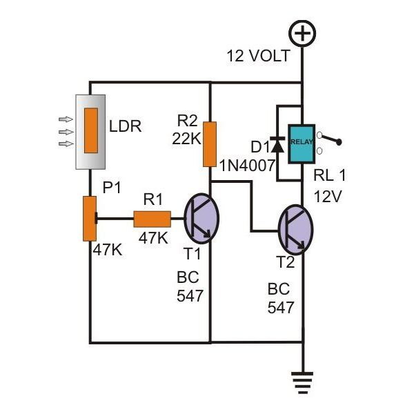 how to evaluate common emitter configuration in bipolar junction simple day night switch circuit diagram image