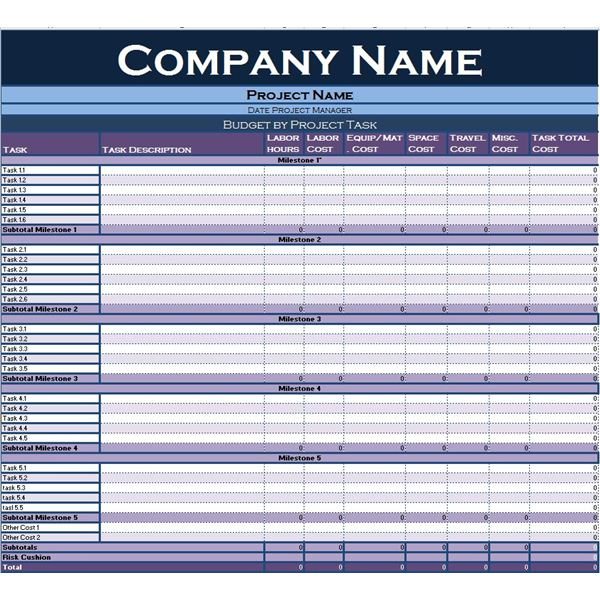 task worksheet template