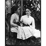 Helen Keller with Anne Sullivan 1888 from Wikipedia