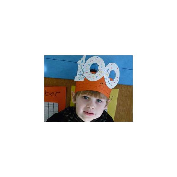 Pre k projects 100 days of school for 100th day hat template