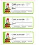 Gift Certificate Template - Vertex42